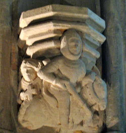 O cavaleiro e o monge em Rosslyn