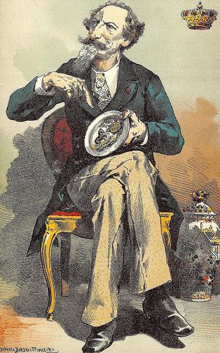 Caricatura de D. Fernando II por Rafael Bordalo Pinheiro